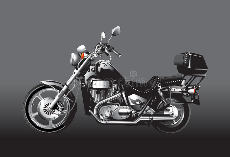 Black motorcycle stock illustration