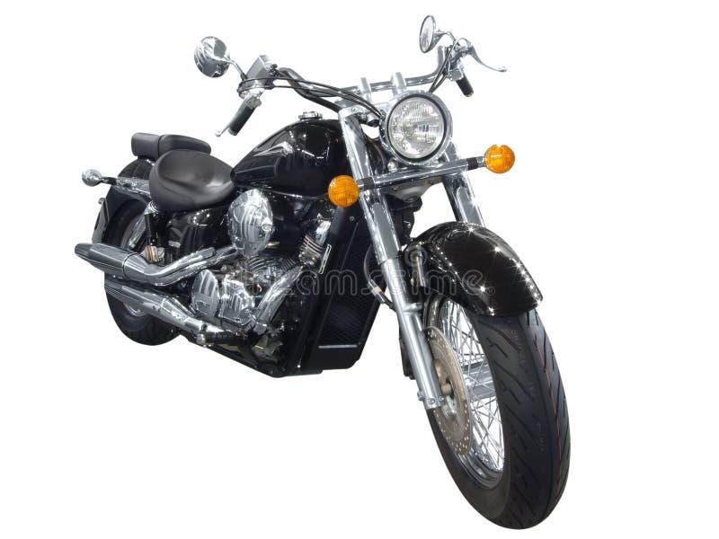 Black motorcycle royalty free stock photo