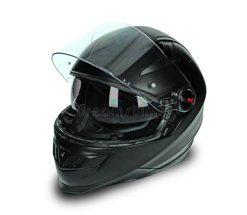 Black motorcycle helmet stock photos