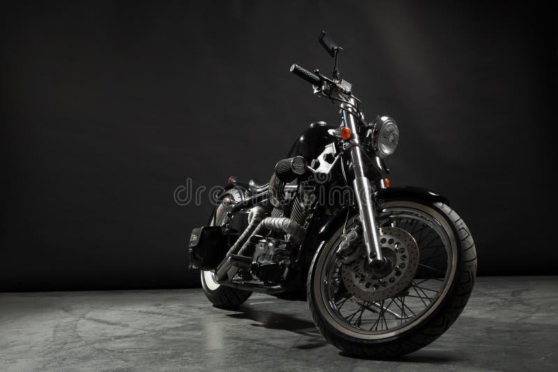 black motorcykeln fotografering för bildbyråer