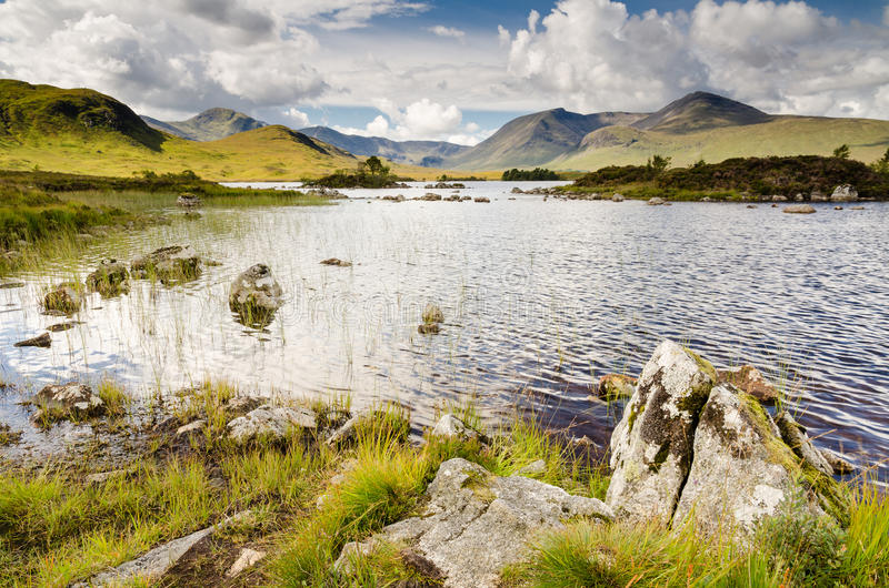 Black Mount over Lochan Na H Aachlaise royalty free stock photography