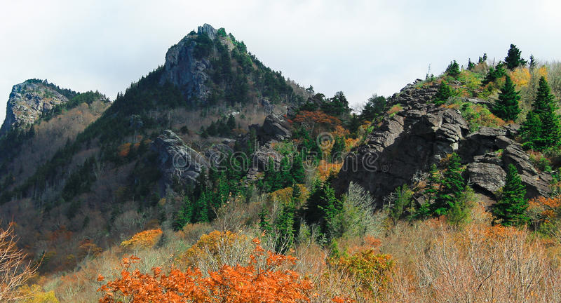 Black mountain peaks in NC royalty free stock images