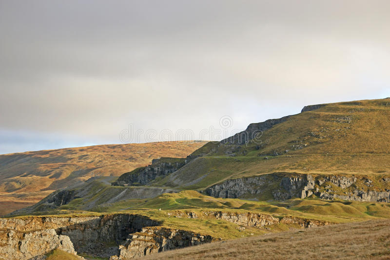 Black Mountains, Wales. Ancient quarry in the Black Mountains royalty free stock photography