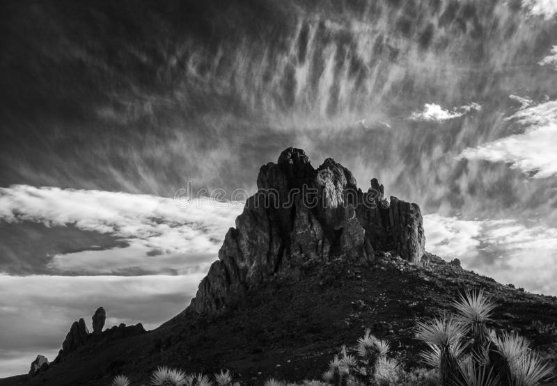 The Black Mountains in western Arizona stock images