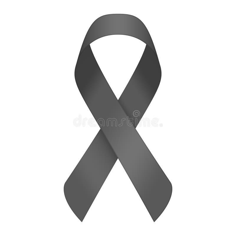 Black mourning ribbon. royalty free illustration