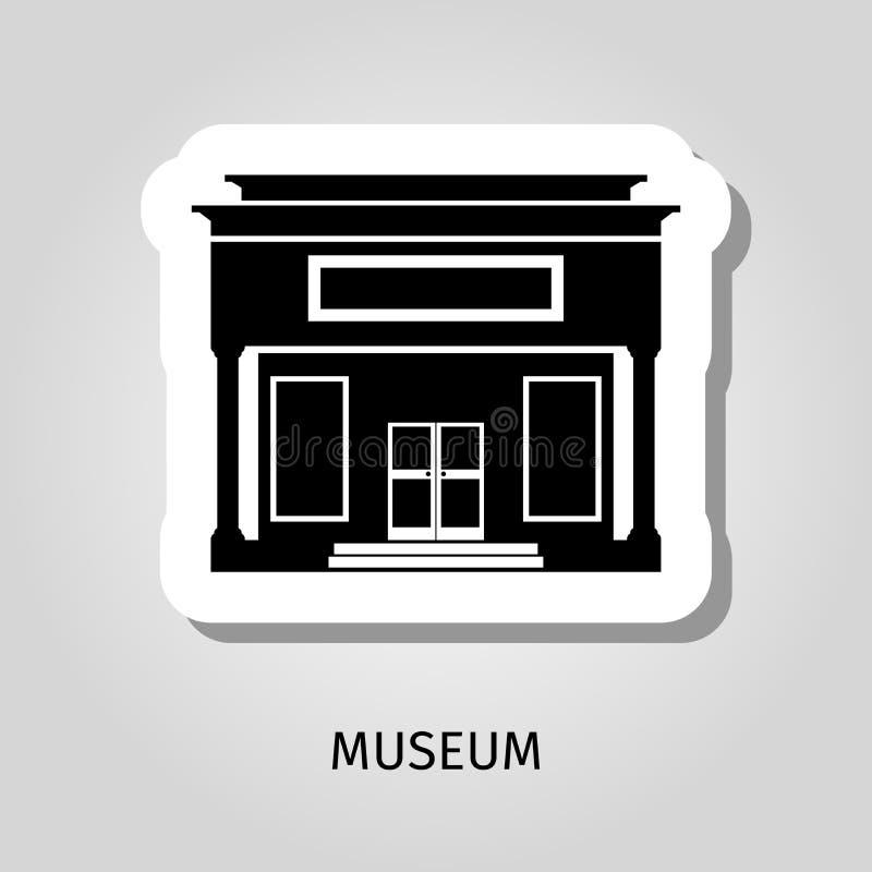 Black museum building web sticker royalty free illustration