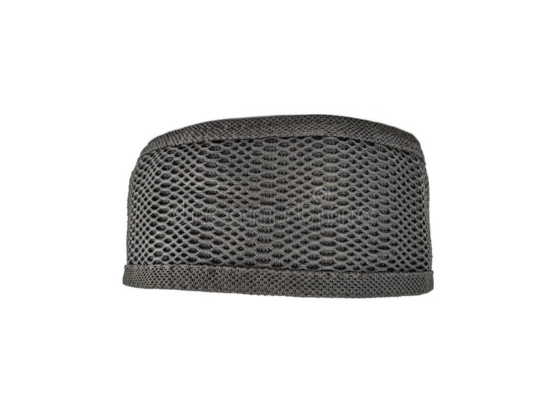 Black muslim cap isolated on white background. Use as a design needs royalty free stock image
