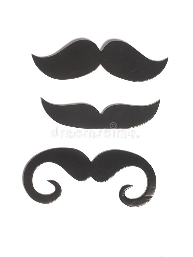 Black mustache icon style. Isolated on white background royalty free stock photo