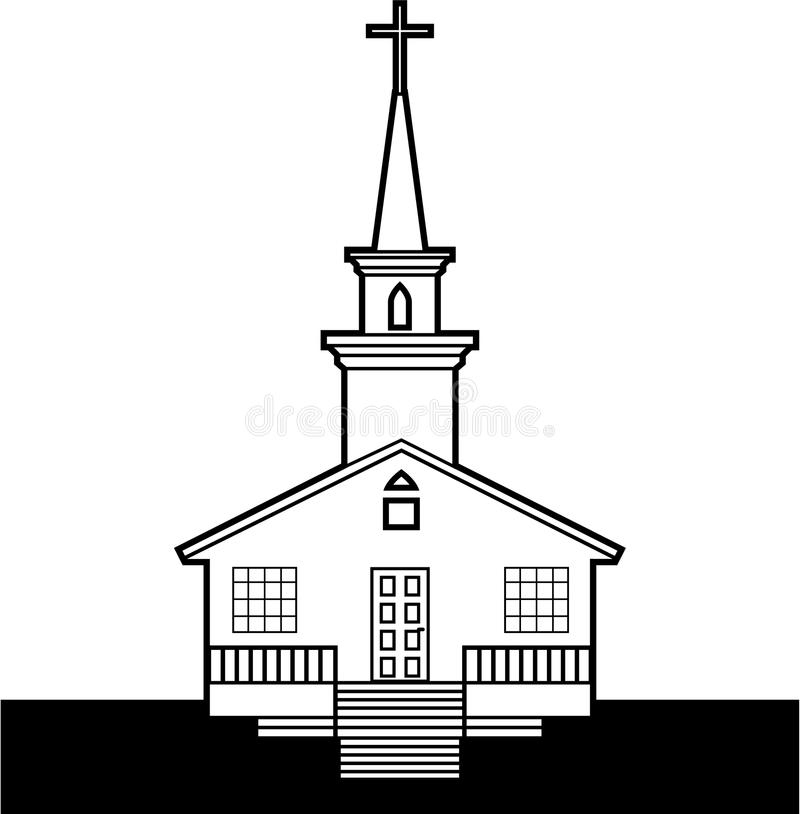 Free Black-n-White Church Royalty Free Stock Images - 49275379