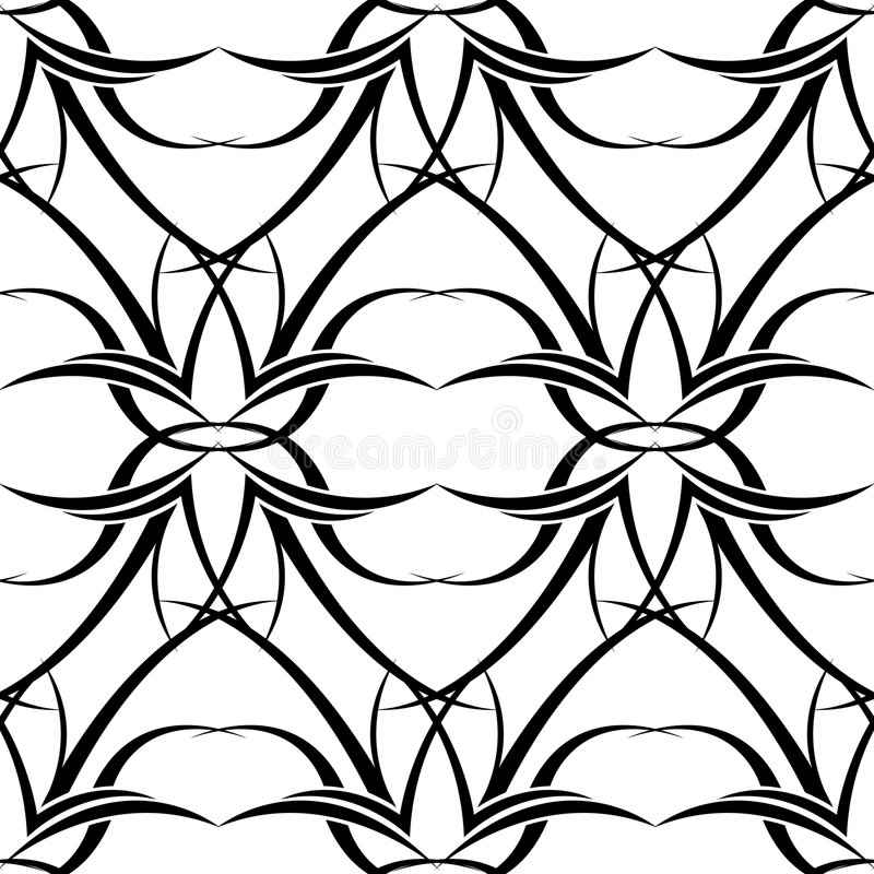 Black n white tattoo wallpaper stock illustration