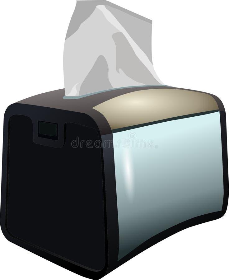Black napkin stand with white napkins, stylish napkin stock photos