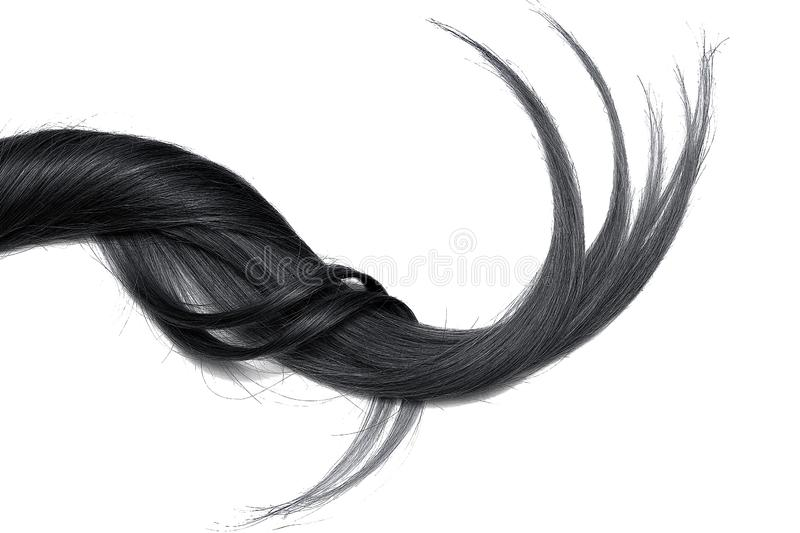 Black natural hair, isolated on a white background royalty free stock photos