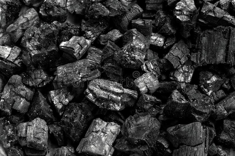 Black Natural wood charcoal texture background, stock image