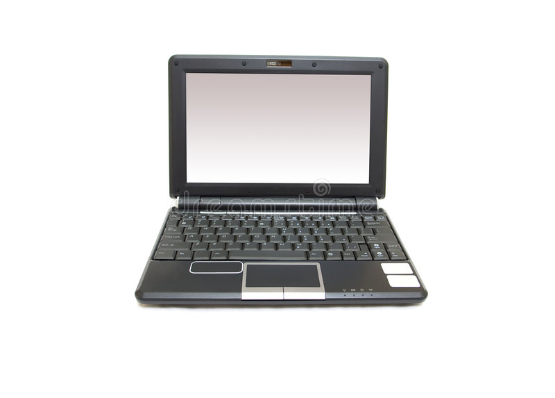 Download Black netbook stock photo. Image of data, network, mobile - 8448528