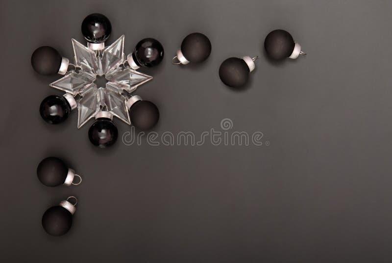 Black New Years decorations stock photos