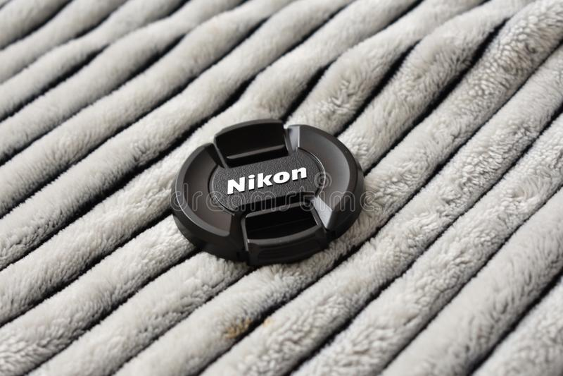 Black Nikon Dslr Camera Lens Cover stock photos