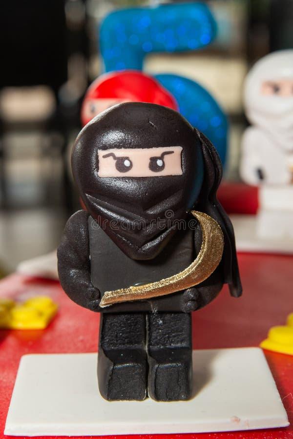 Fantastic Black Ninja Lego Mini Figure On Birthday Cake Editorial Image Birthday Cards Printable Inklcafe Filternl