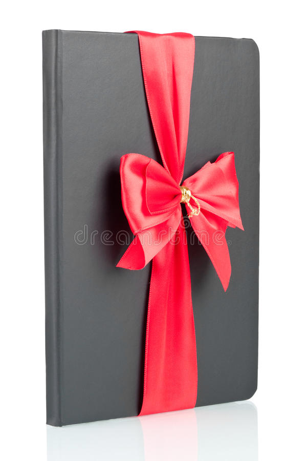 Download Black Notebook With Red Ribbon Stock Photo - Image: 28960164