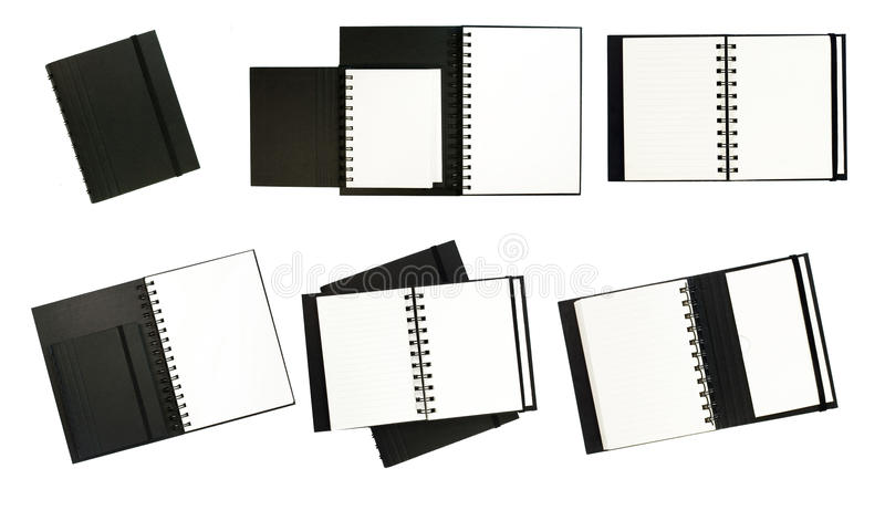 Download Black notebooks stock photo. Image of business, contact - 24624114