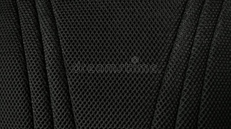 Black nylon fabric texture background. stock photography