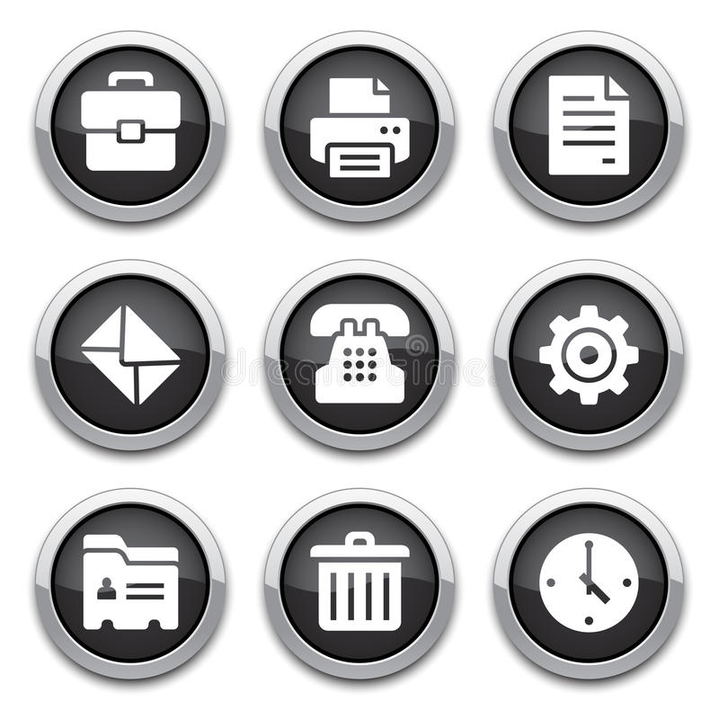 Black Office Buttons Stock Photos
