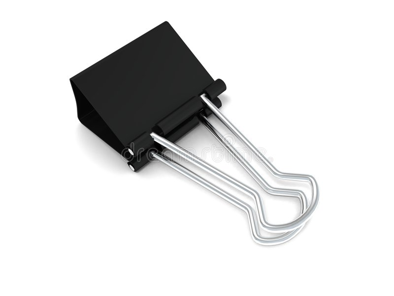 Black office clamp royalty free illustration