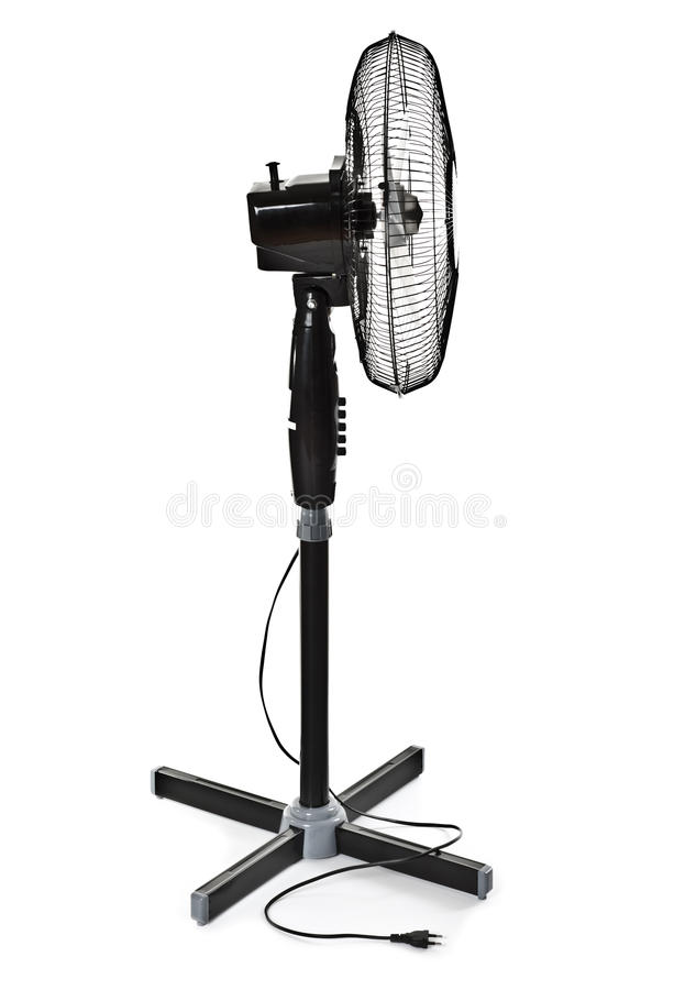 Black office fan. Isolated on white stock photography