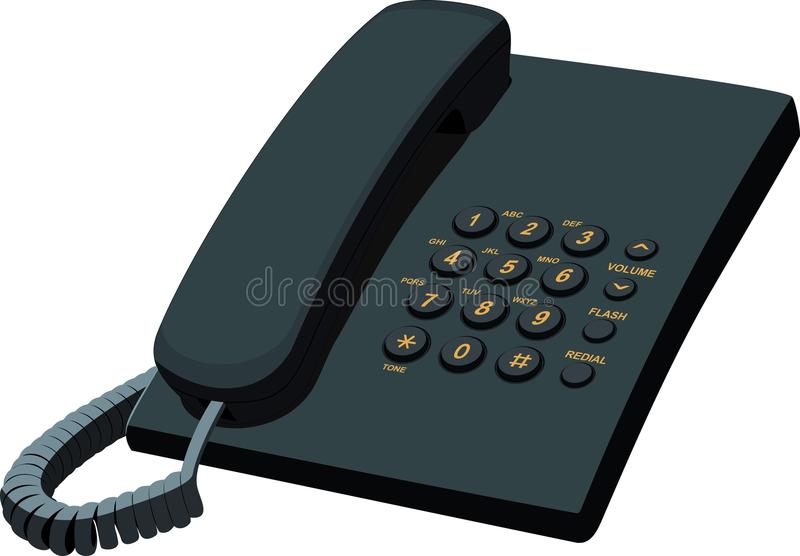 Download Black Office Stationery Telephone Stock Vector - Illustration of phone, object: 26078936