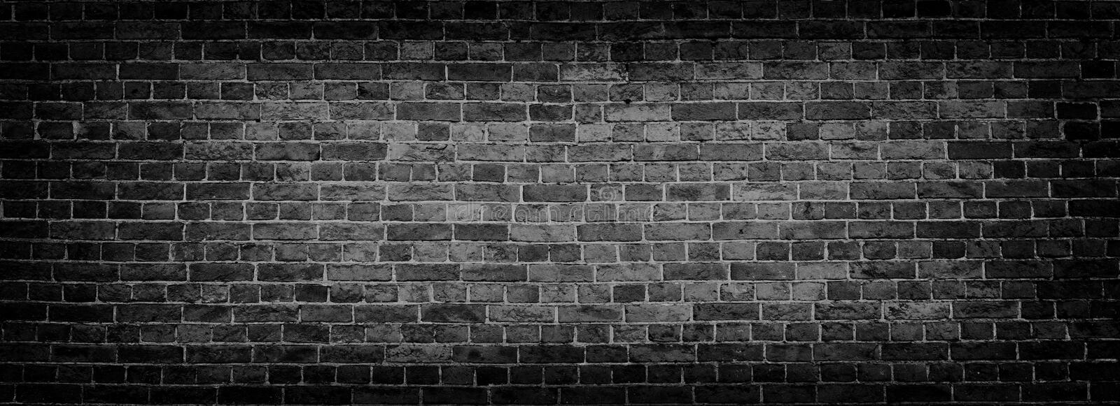 Black old brick wall panoramic background in high resolution stock download black old brick wall panoramic background in high resolution stock photo image 106597000 voltagebd Choice Image