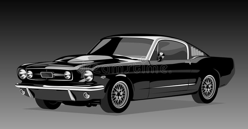 Black old car stock illustration