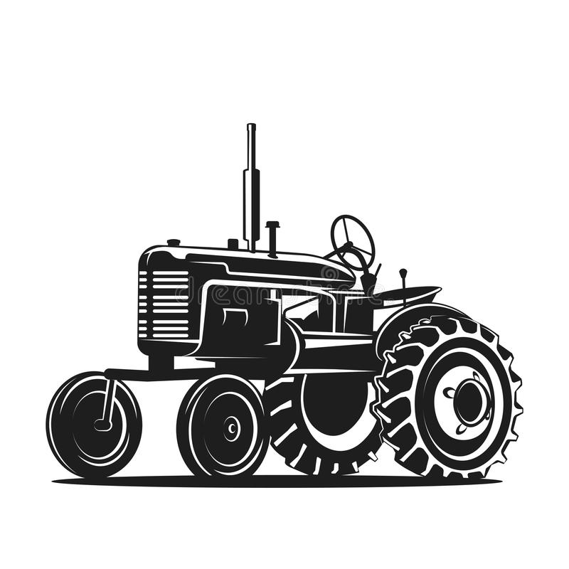 Old Tractor Clip Art : List of synonyms and antonyms the word tractor silhouette
