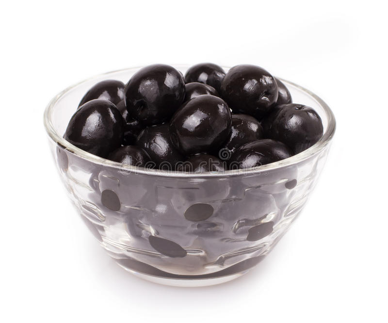 Black olive. Isolated on the white background stock image