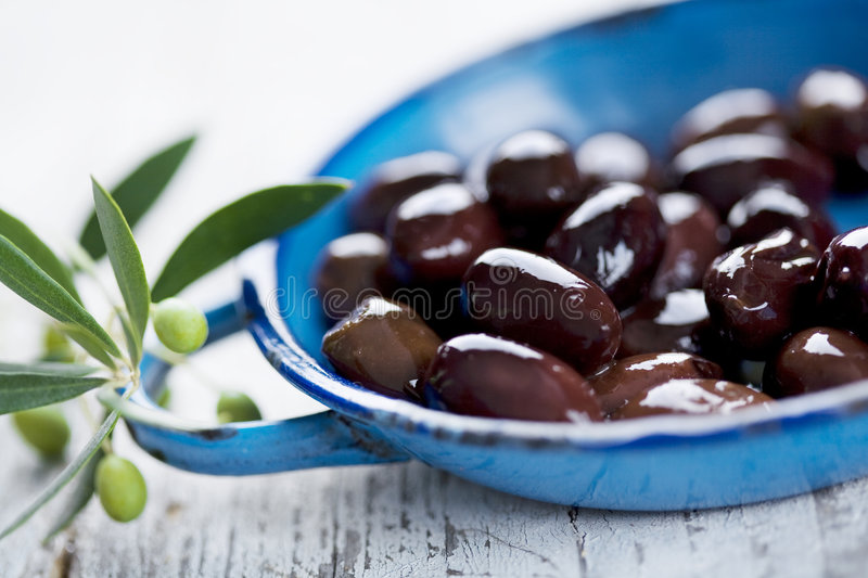 Black olives royalty free stock images