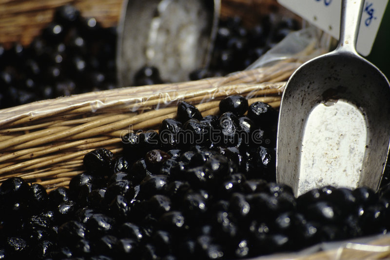 Download Black olives stock image. Image of many, uncooked, scoop - 7673603