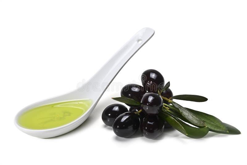 Download Black Olives and Oil stock image. Image of virgin, ripe - 21283851
