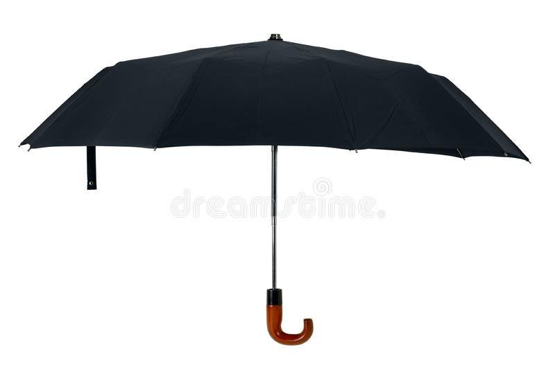 Black open gentleman umbrella stock images