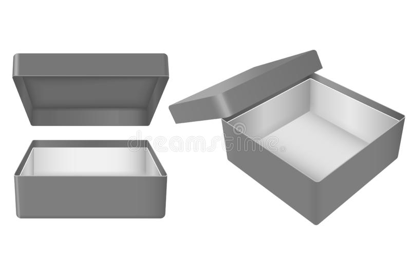 Black open gift box royalty free illustration