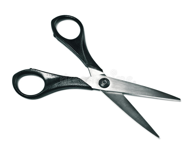 Black opened scissors