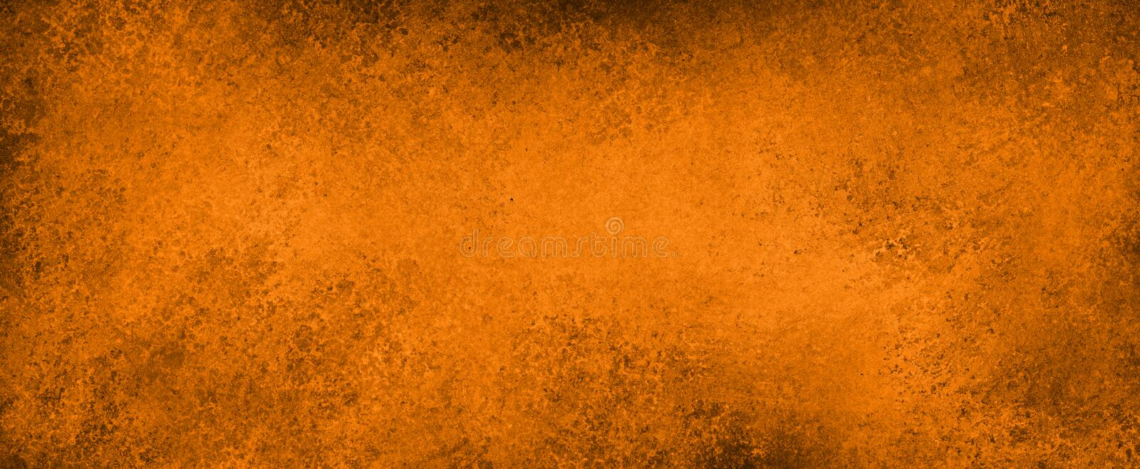 Black and orange background with grunge texture, old distressed vintage halloween or autumn background royalty free illustration