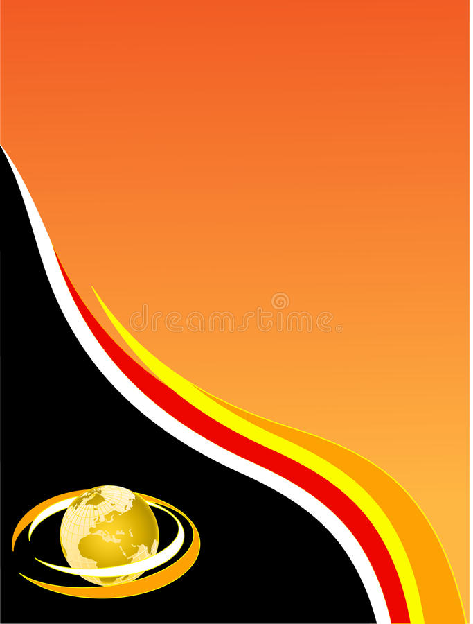 A black and orange business card stock vector illustration of download a black and orange business card stock vector illustration of backdrop line colourmoves