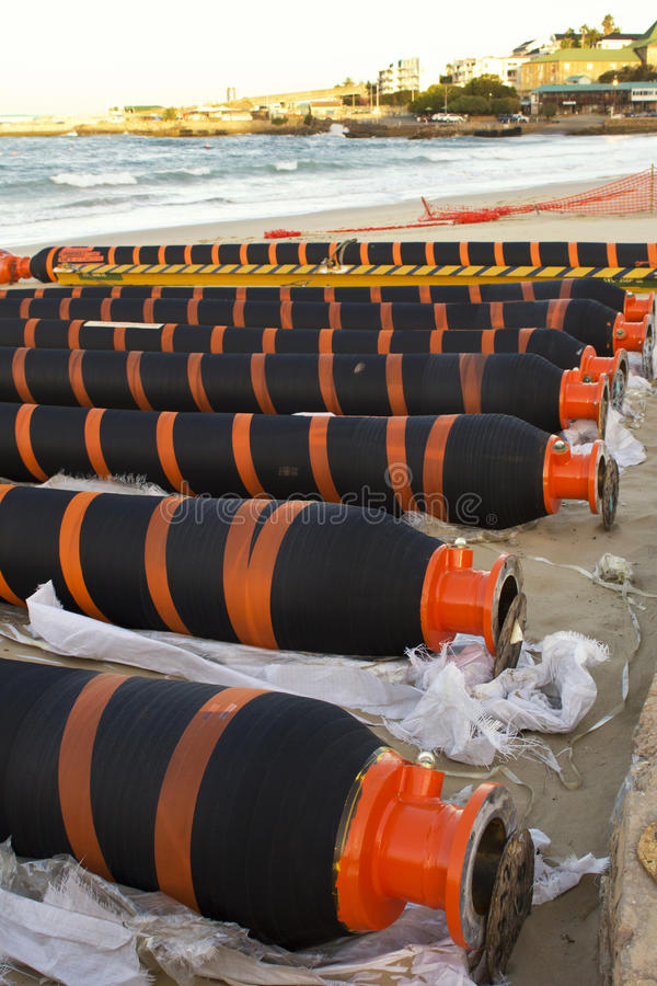 Download Gas Or Oil Pipeling Lying On Beach Stock Image - Image: 29739233