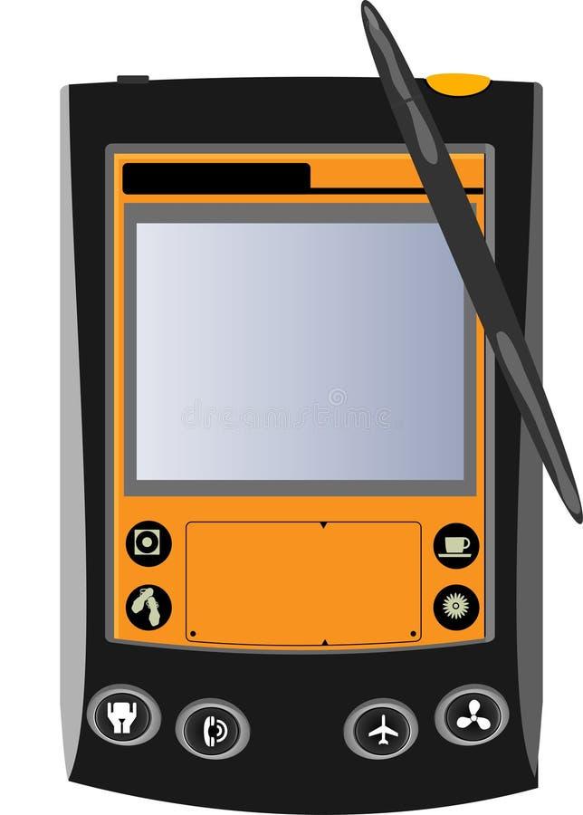 Download Black And Orange Pocket Computer Stock Vector - Illustration of mobile, digitized: 9016941