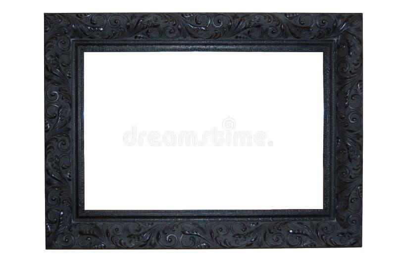 Black Ornate Frame stock photo. Image of white, frame - 10381398