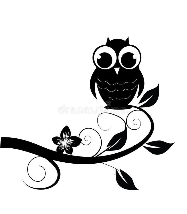 Black owl royalty free illustration