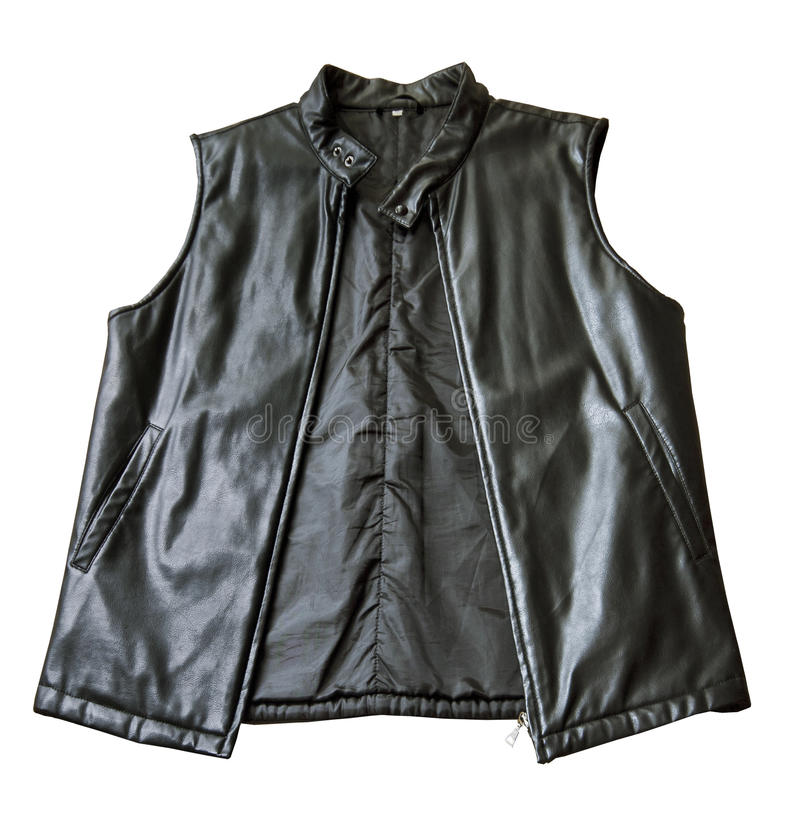Download A Black Padded Leather Jacket Without Sleeves Stock Image - Image: 24757231