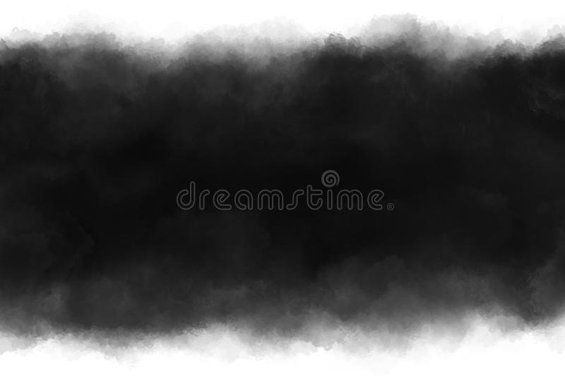 Black paint brush stroke on white background with copy space. For design work stock illustration