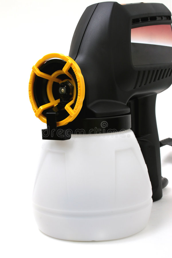 Download Black Paint Sprayer Over White Stock Photo - Image of white, electric: 100650