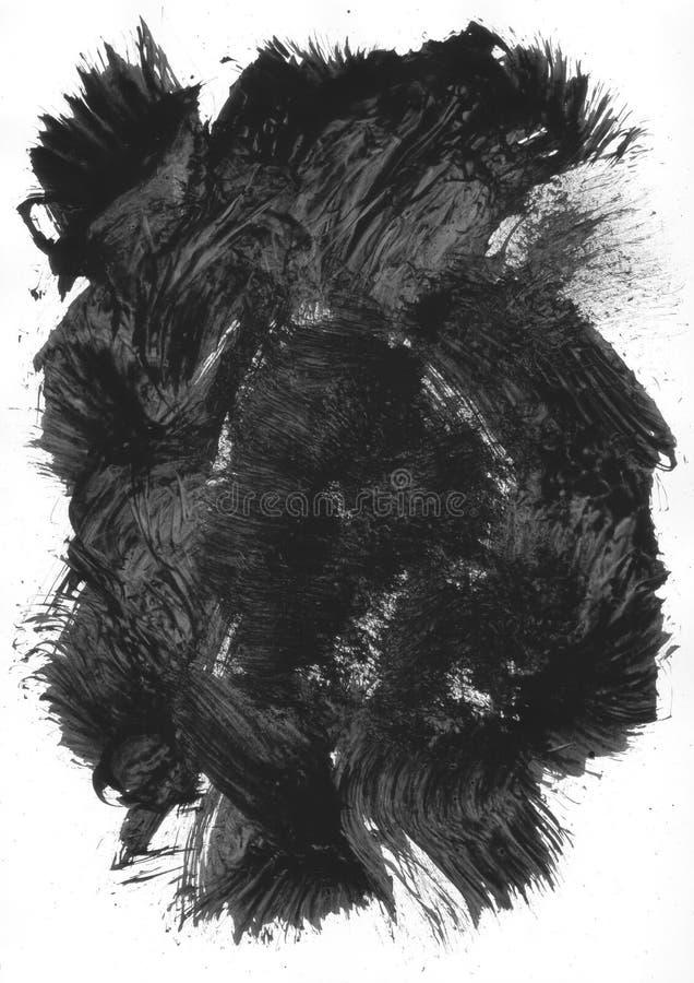 Black Painted Element vector illustration