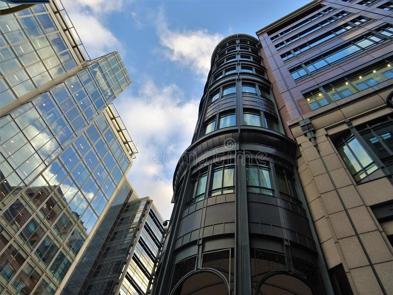 Black Painted Highrise Building royalty free stock images