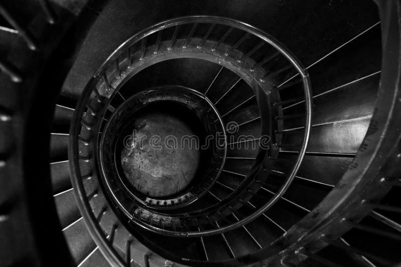 Spiral stairs in the interior of the Zeitz Mocaa Museum of Contemporary Art Africa, on the V&A Waterfront, Cape Town, South Africa royalty free stock images
